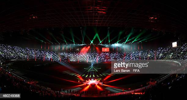 A general view during the opneing ceremony prior to the FIFA Club World Cup PlayOff for the Quarter Final match between Moghreb Athletic Tetouan and...