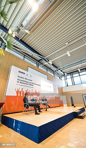 A general view during the Panel Discussion 'Nie Wieder' at Landessportbund Hessen headquarters on January 12 2014 in Frankfurt am Main Germany
