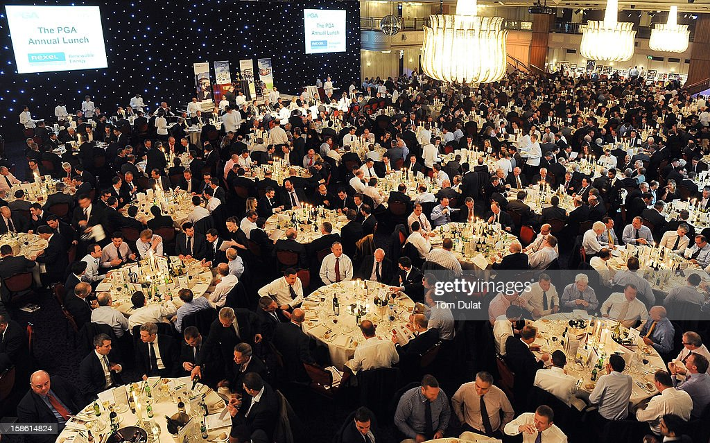General view during the PGA Lunch on December 21, 2012 in London, England.