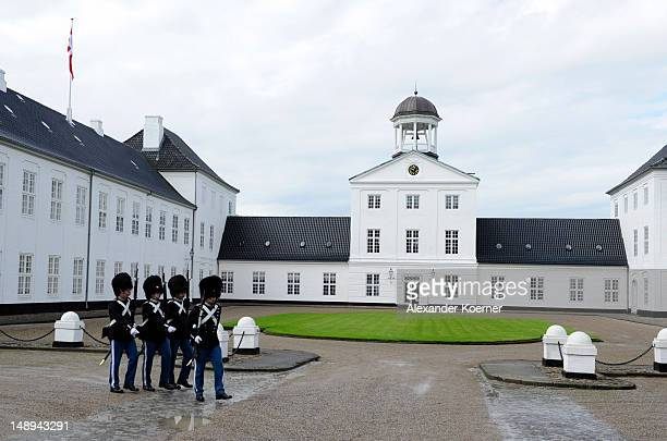 General view during the photocall with the Royal Danish family at their summer residence of Grasten Slot on July 20, 2012 in Grasten, Denmark.