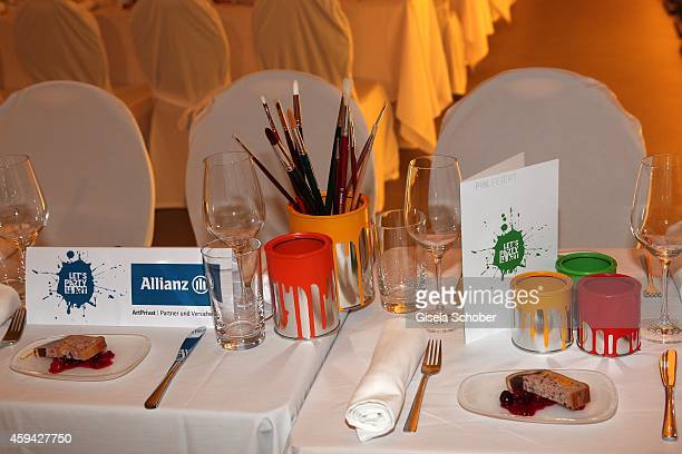 A general view during the PIN Party 'Lets Party 4 Art' at Neue Pinakothek on November 22 2014 in Munich Germany