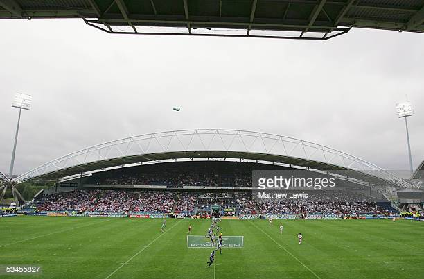 A general view during the Powergen Challenge Cup semifinal match between Hull FC and StHelens at the Galpharm Stadium on July 30 2005 in Huddersfield...