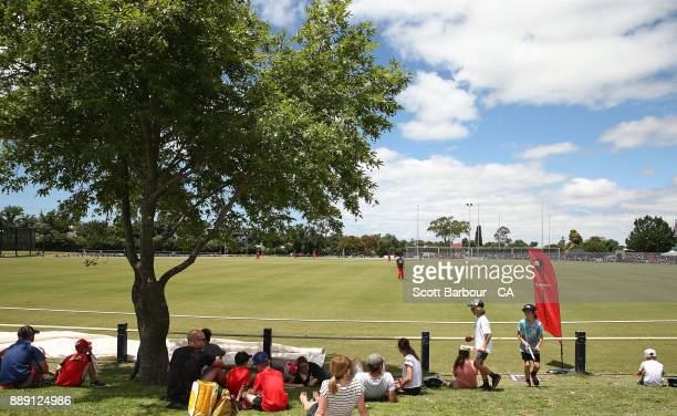 A general view during the practice match during the Melbourne Renegades BBL fan day at Geelong Cricket Ground on December 10 2017 in Geelong Australia