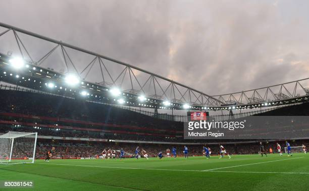 A general view during the Premier League match between Arsenal and Leicester City at the Emirates Stadium on August 11 2017 in London England