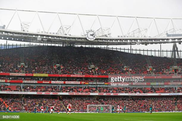 A general view during the Premier League match between Arsenal and Southampton at Emirates Stadium on April 8 2018 in London England