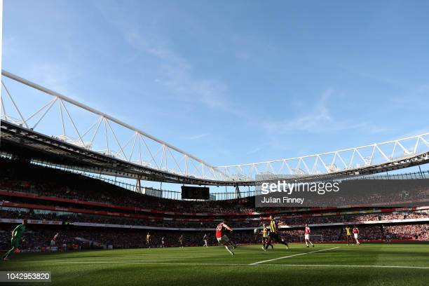 A general view during the Premier League match between Arsenal FC and Watford FC at Emirates Stadium on September 29 2018 in London United Kingdom