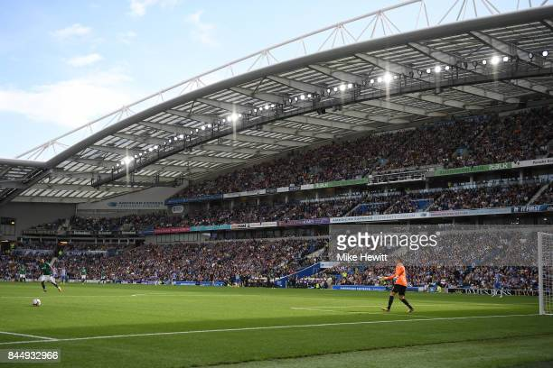 General view during the Premier League match between Brighton and Hove Albion and West Bromwich Albion at Amex Stadium on September 9 2017 in...