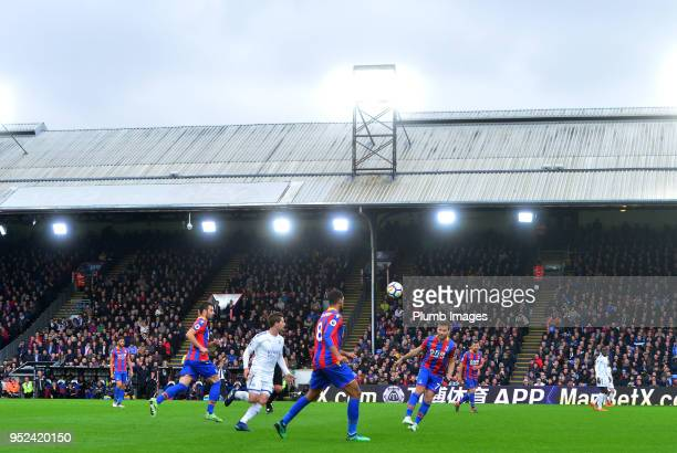 A general view during the Premier League match between Crystal Palace and Leicester City at Selhurst Park on April 28th 2018 in London United Kingdom