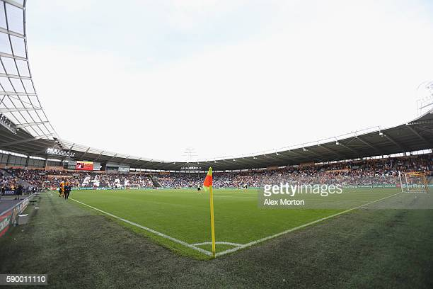 General view during the Premier League match between Hull City and Leicester City at KC Stadium on August 13 2016 in Hull England