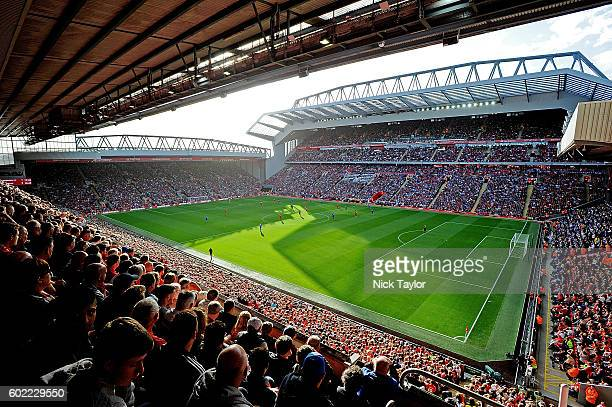 General view during the Premier League match between Liverpool and Leicester City at Anfield on September 10 2016 in Liverpool England