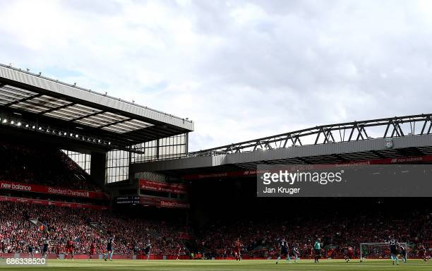 General view during the Premier League match between Liverpool and Middlesbrough at Anfield on May 21 2017 in Liverpool England