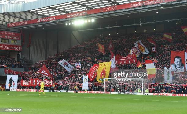 A general view during the Premier League match between Liverpool FC and Bournemouth at Anfield Stadium on February 9 2019 in Liverpool United Kingdom
