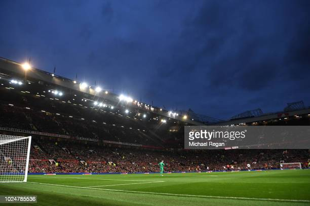 A general view during the Premier League match between Manchester United and Tottenham Hotspur at Old Trafford on August 27 2018 in Manchester United...