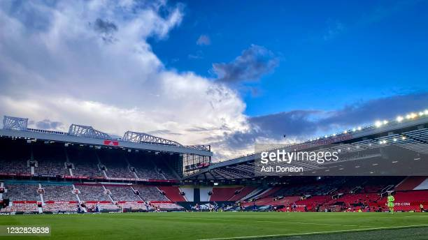General View during the Premier League match between Manchester United and Leicester City at Old Trafford on May 11, 2021 in Manchester, United...