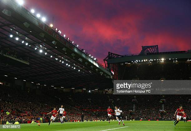 A general view during the Premier League match between Manchester United and Tottenham Hotspur at Old Trafford on December 11 2016 in Manchester...