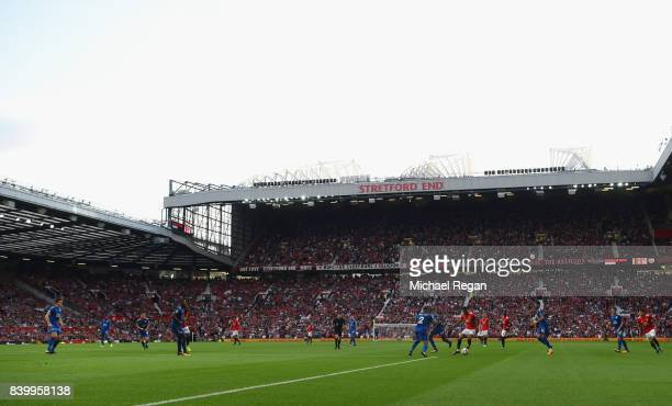 A general view during the Premier League match between Manchester United and Leicester City at Old Trafford on August 26 2017 in Manchester England