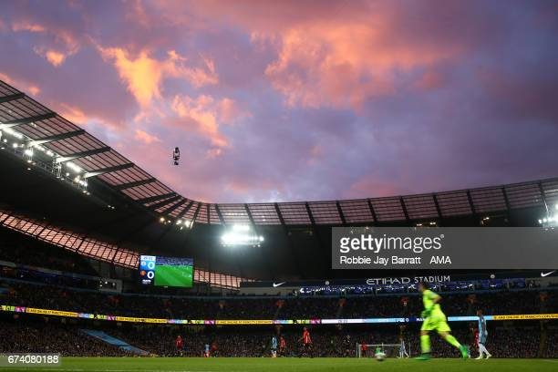 General View during the Premier League match between Manchester City and Manchester United at Etihad Stadium on April 27 2017 in Manchester England