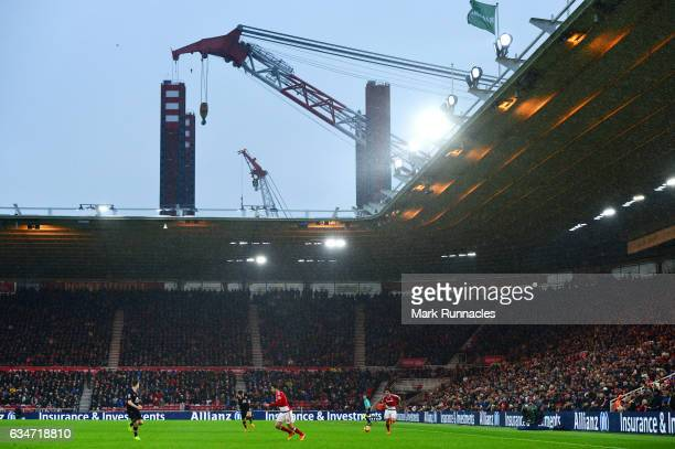 A general view during the Premier League match between Middlesbrough and Everton at Riverside Stadium on February 11 2017 in Middlesbrough England