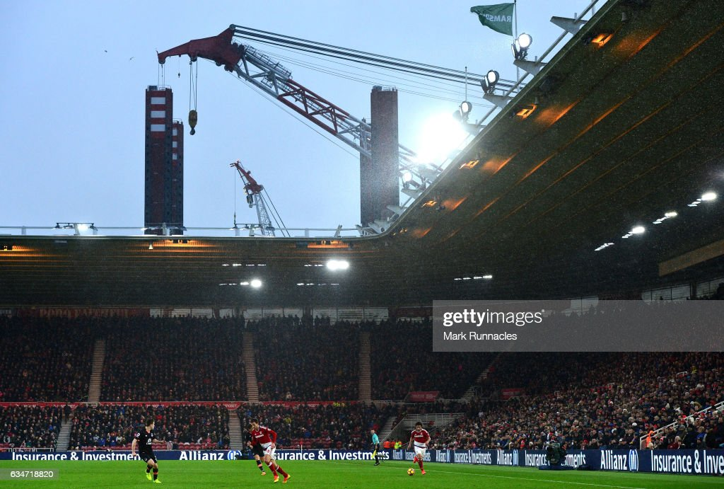A general view during the Premier League match between Middlesbrough and Everton at Riverside Stadium on February 11, 2017 in Middlesbrough, England.