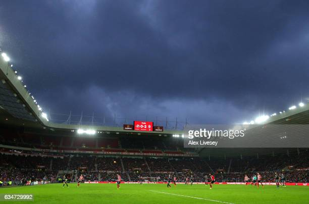 A general view during the Premier League match between Sunderland and Southampton at Stadium of Light on February 11 2017 in Sunderland England