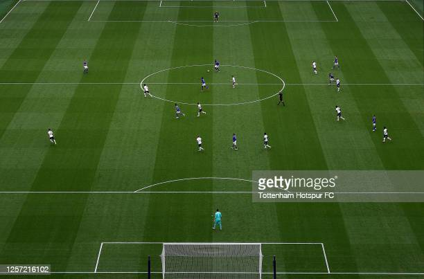 General view during the Premier League match between Tottenham Hotspur and Leicester City at Tottenham Hotspur Stadium on July 19, 2020 in London,...