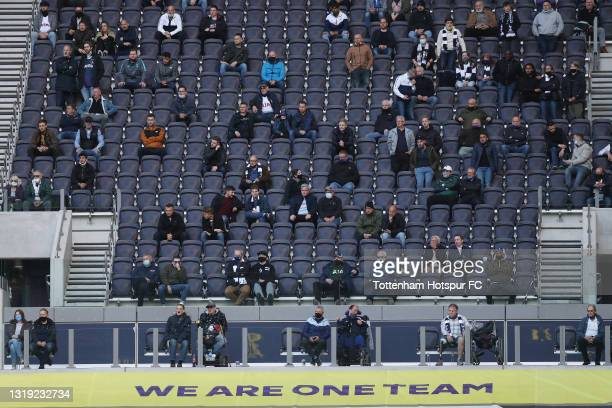 General view during the Premier League match between Tottenham Hotspur and Aston Villa at Tottenham Hotspur Stadium on May 19, 2021 in London,...