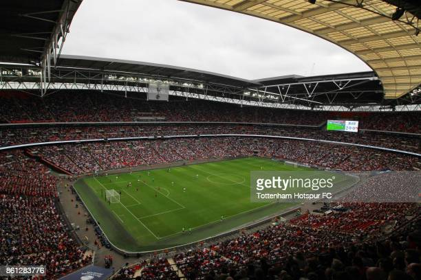 A general view during the Premier League match between Tottenham Hotspur and AFC Bournemouth at Wembley Stadium on October 14 2017 in London England