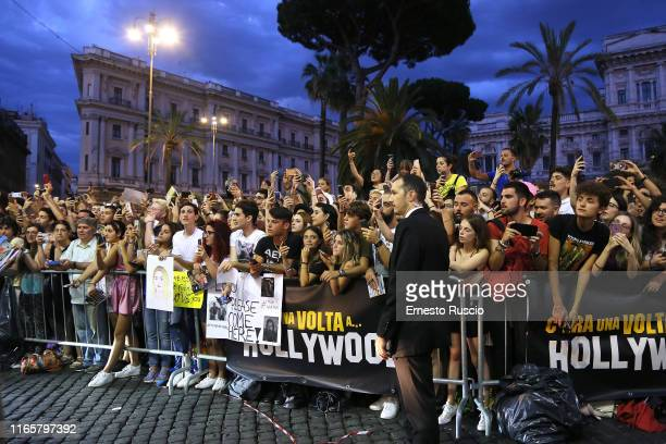 """General view during the premiere of the movie """"Once Upon a time in Hollywood"""" at Cinema Adriano on August 02, 2019 in Rome, Italy."""