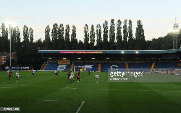 A general view during the preseason friendly match between Bury and Huddersfield Town during the pre season friendly between Bury and Hufddersfield...