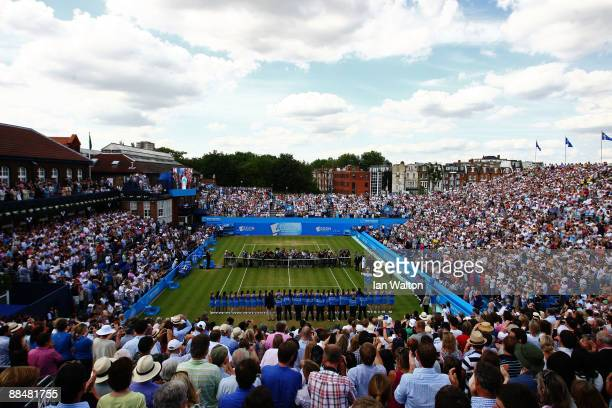 A general view during the presentation ceremony after the men's final match on Day 7 of the AEGON Championship at Queens Club on June 14 2009 in...