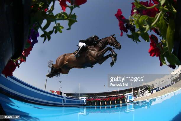 General view during The President of the UAE Show Jumping Cup at Al Forsan on February 17 2018 in Abu Dhabi United Arab Emirates