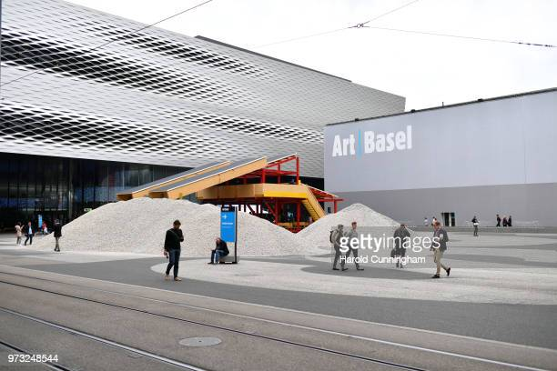 A general view during the press preview for Art Basel at Basel Messe on June 13 2018 in Basel Switzerland Art Basel is one of the most prestigious...