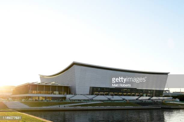General view during the press preview of Ariake Arena, 2020 Tokyo Olympic Games venue on November 21, 2019 in Tokyo, Japan.