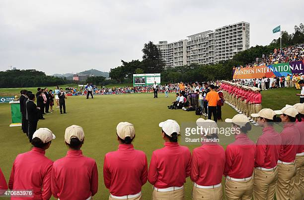 A general view during the prize giving ceremony afterthe final round of the Shenzhen International at Genzon Golf Club on April 19 2015 in Shenzhen...
