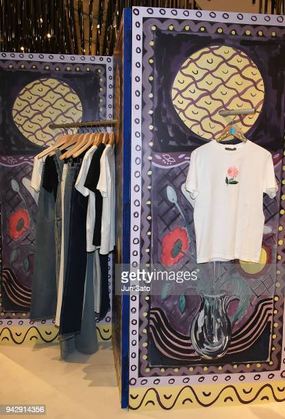 A general view during the promotional event for ALEXACHUNG Virginia Collection at Isetan Shinjuku Department Store on April 7 2018 in Tokyo Japan