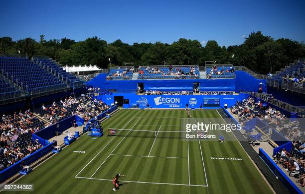 A general view during the qualifying match between Camila Giorgi of Italy and Grace Min of The USA on day two of qualifying for the Aegon Classic at...
