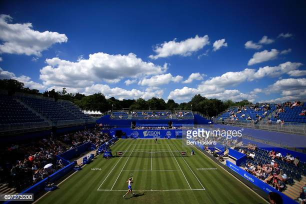 A general view during the qualifying match between Sachia Vickery of The USA and Katie Boulter of Great Britain on day two of qualifying for the...