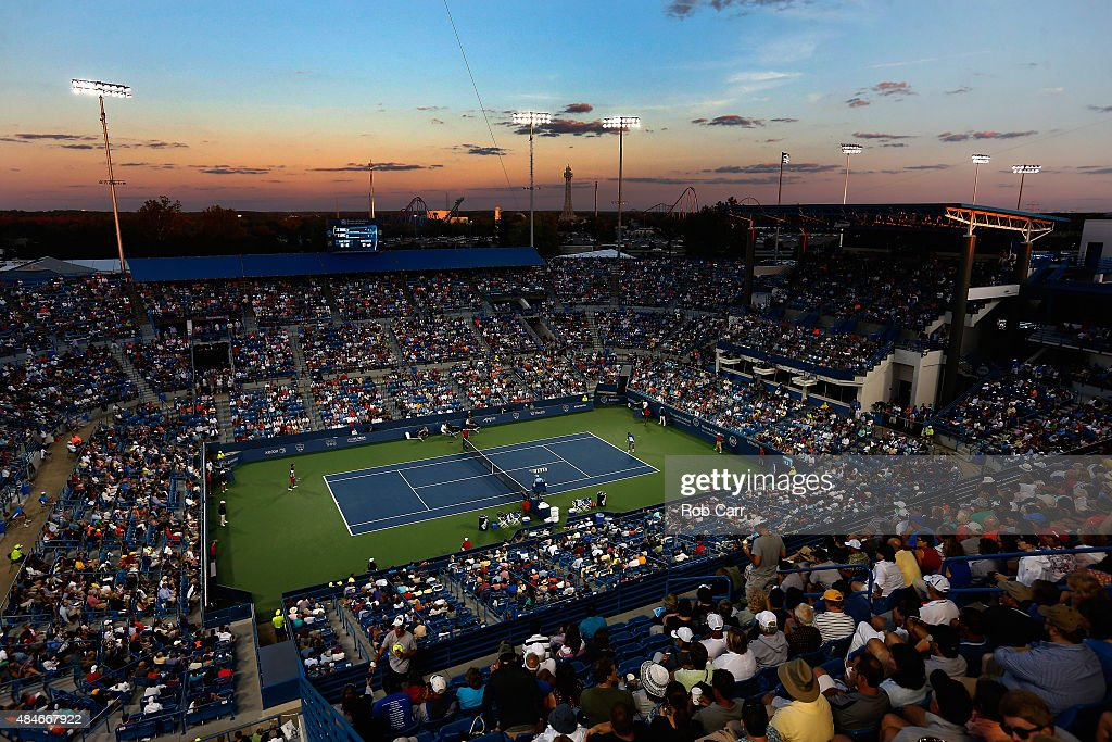 A general view during the Rafael Nadal of Spain and Feliciano Lopez of Spain match during the Western & Southern Open at the Linder Family Tennis Center on August 20, 2015 in Cincinnati, Ohio.