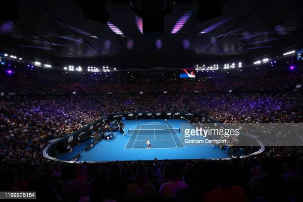 A general view during the Rally for Relief Bushfire Appeal event at Rod Laver Arena on January 15 2020 in Melbourne Australia