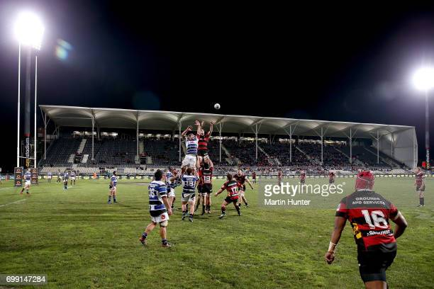 General view during the Ranfurly Shield match between Canterbury and Wanganui at AMI Stadium on June 21 2017 in Christchurch New Zealand
