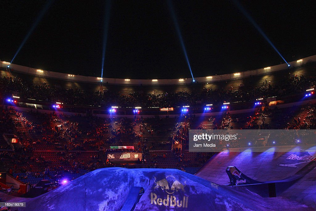 General view during the Red Bull X-Fighters at Plaza Mexico on March 08, 2013 in Mexico City, Mexico.