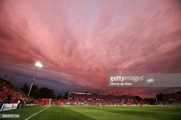 A general view during the round 12 ALeague match between Adelaide United and Sydney FC at Coopers Stadium on December 26 2016 in Adelaide Australia