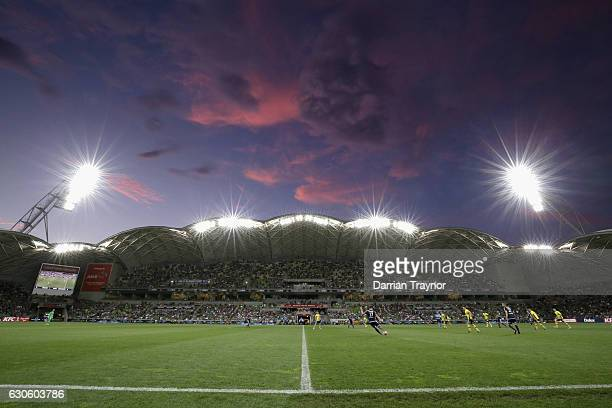 General view during the round 12 A-League match between Melbourne Victory and Central Coast Mariners at AAMI Park on December 28, 2016 in Melbourne,...