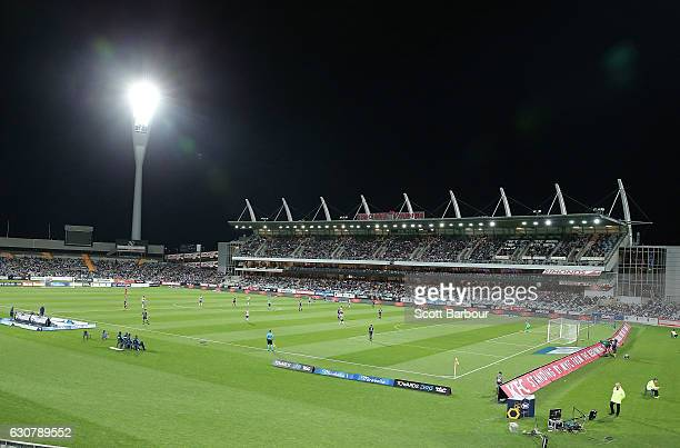 A general view during the round 13 ALeague match between Melbourne Victory and Newcastle Jets at Simonds Stadium on January 2 2017 in Geelong...