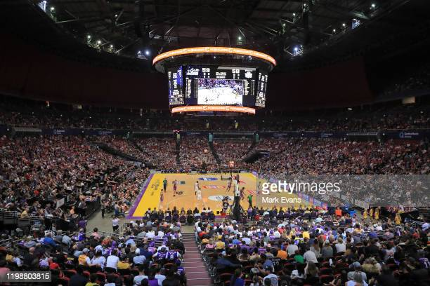 General view during the round 15 NBL match between the Sydney Kings and the Cairns Taipans at Qudos Bank Arena on January 11, 2020 in Sydney,...