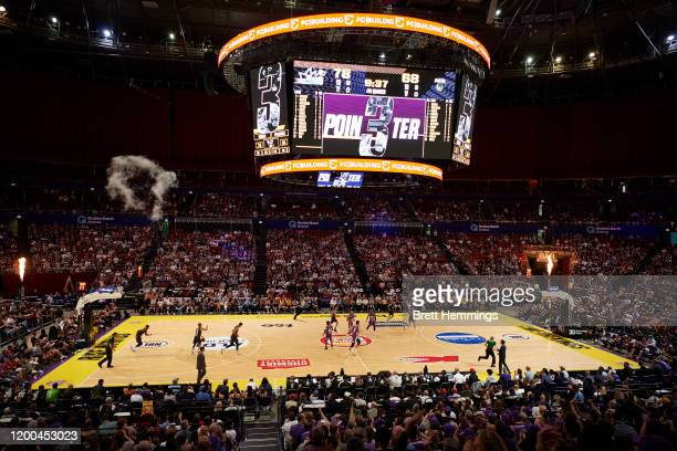 General view during the round 16 NBL match between the Sydney Kings and the South East Melbourne Phoenix at Qudos Bank Arena on January 19, 2020 in...