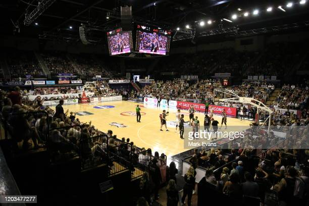 General view during the round 18 NBL match between the Illawarra Hawks and the New Zealand Breakers at WIN Entertainment Centre on February 02, 2020...