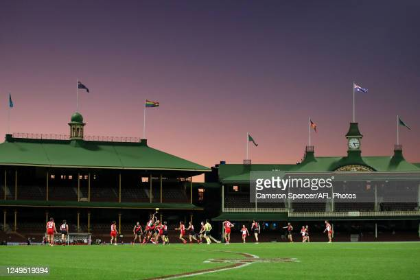 General view during the round 2 AFL match between the Sydney Swans and the Essendon Bombers at Sydney Cricket Ground on June 14, 2020 in Sydney,...