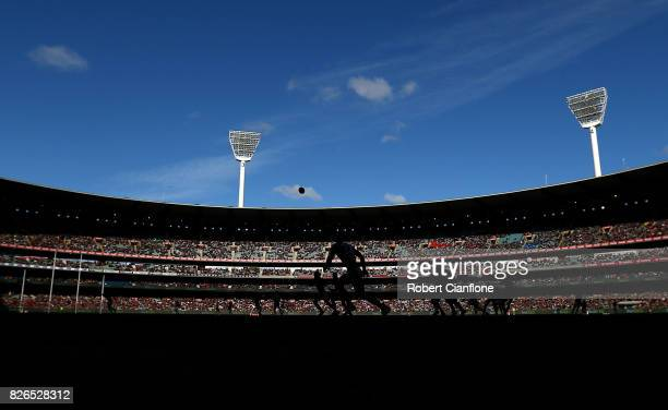 A general view during the round 20 AFL match between the Essendon Bombers and the Carlton Blues at Melbourne Cricket Ground on August 5 2017 in...