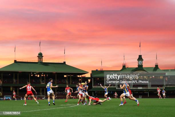 General view during the round 7 AFL match between the Sydney Swans and the Gold Coast Suns at Sydney Cricket Ground on July 18, 2020 in Sydney,...